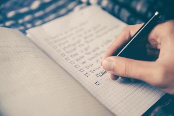 תכנון נכון - הכנת רשימה